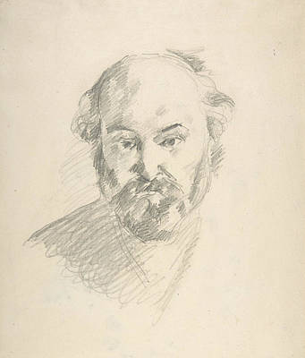 Drawing - Portrait Of The Artist by Paul Cezanne
