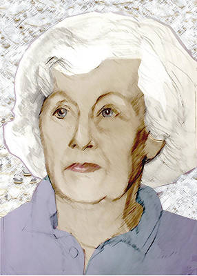 Painting - Portrait Of The Artist' S Mom At 83 by Greta Corens