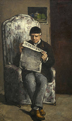 Painting - Portrait Of The Artists Father by Paul Cezanne
