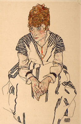 Adele Wall Art - Painting - Portrait Of The Artist's Sister-in-law, Adele by Egon Schiele