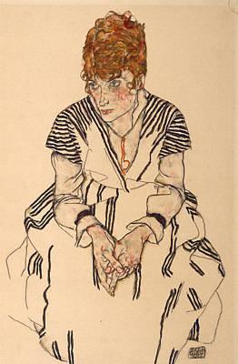 Portrait Of The Artist's Sister-in-law, Adele Art Print