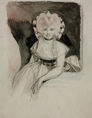 Portrait Of The Artist's Wife Art Print