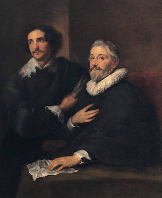 Painting - Portrait Of The Brothers De Wael by Anthony van Dyck