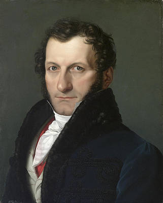 Pelagio Palagi Painting - Portrait Of The Collector And Patron Conte Colonnello Teodoro Arese Lucini by Pelagio Palagi