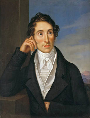 Painting - Portrait Of The Composer Carl Maria Von Weber by Caroline Bardua