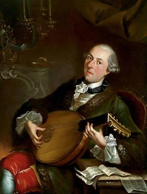 Portrait Of Musicians Painting - Portrait Of The Composer Filippo Della Casa  by Luigi Crespi