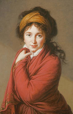 Portrait Of The Countess Nikolai Nikolaevich Golovin Art Print by Elisabeth Louise Vigee-Lebrun