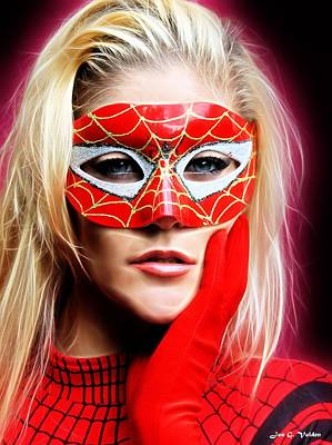 Painting - Portrait Of The Crimson Spider by Jon Volden