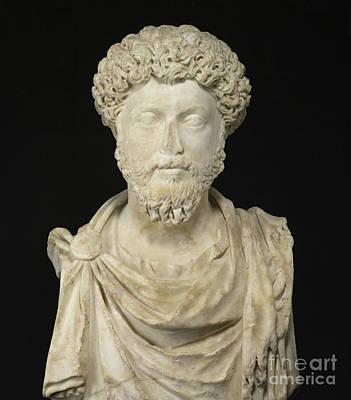 Portrait Of The Emperor Marcus Aurelius Art Print