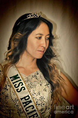 Photograph - Portrait Of The Gorgeous Miss Pacifica California Marissa Lai by Jim Fitzpatrick