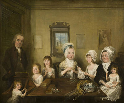 Painting - Portrait Of The Latrobe Of Fulneck Family by Elias Martin