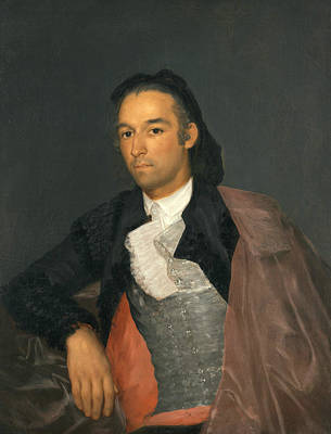 Matador Painting - Portrait Of The Matador Pedro Romero by Francisco Goya
