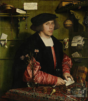 Desk Painting - Portrait Of The Merchant George Gisze by Hans Holbein
