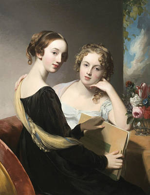 Portrait Of The Misses Mary And Emily Mceuen Art Print by Thomas Sully