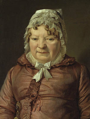 Painting - Portrait Of The Mother Of Captain Von Stierle-holzmeister by Ferdinand Georg Waldmuller
