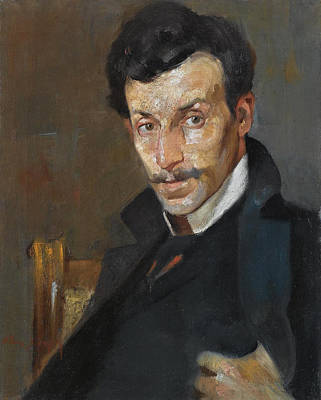 Painting - Portrait Of The Painter Gerassimos Dialismas by Nikolaos Lytras