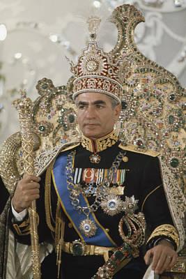 Portrait Of The Shah Of Iran Taken Art Print
