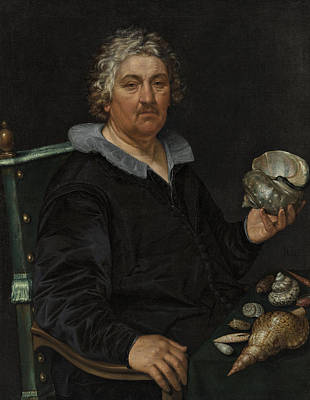 Painting - Portrait Of The Shell Collector Jan Govertsen Van Der Aer by Hendrik Goltzius