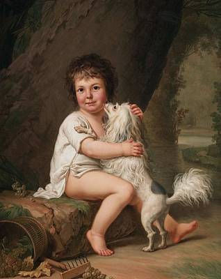 Portrait Of The Pet Painting - Portrait Of The Young Henri Bertholet Campan by MotionAge Designs