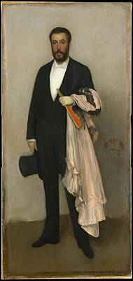 Whistler Painting - Portrait Of Theodore Duret by James