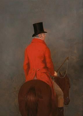 Portrait Of Thomas Cholmondeley - 1st Lord Delamare On His Hunter  Art Print