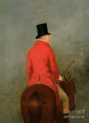 Horseback Painting - Portrait Of Thomas Cholmondeley by Henry Calvert