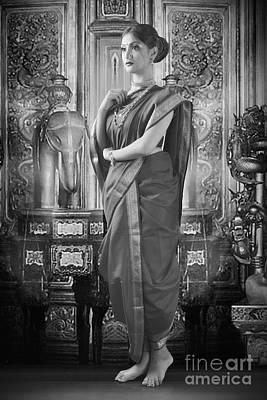 Photograph - Portrait Of Traditional Indian Woman by Kiran Joshi