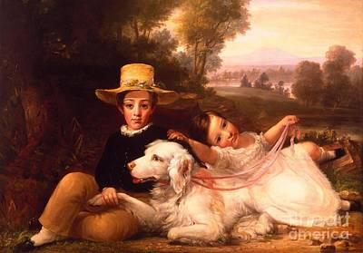 Harlow Painting - Portrait Of Two Children by MotionAge Designs
