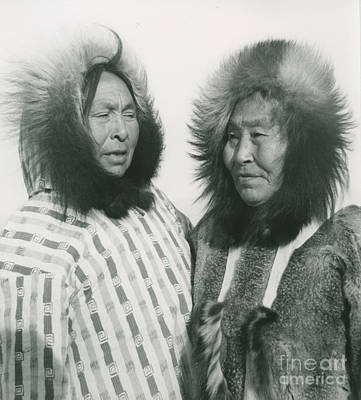 Alaska Painting - Portrait Of Two Indigenous Women by Celestial Images