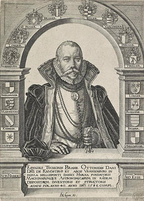 Drawing - Portrait Of Tycho Brahe by Jacques de Gheyn II