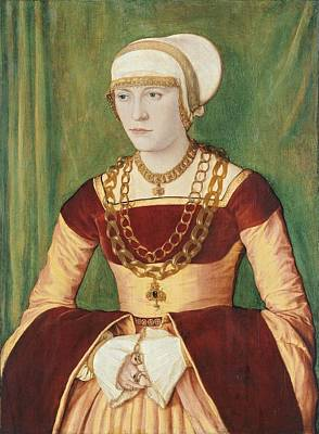 Portrait Of Ursula Rudolph 1528 By Barthel Beham Art Print