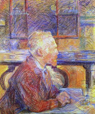 Raymond Painting - Portrait Of Vincent Van Gogh by Henri de Toulouse-Lautrec