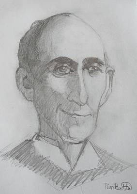 Portrait Of Wallace D. Wattles Art Print by Tim Botta
