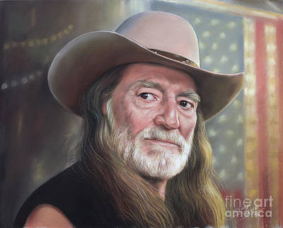 Willie Nelson Drawing - Portrait Of Willie Nelson by Teodor Bozhinov