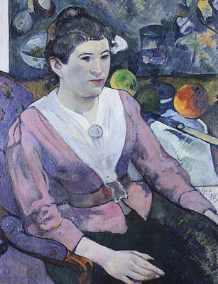 Portrait Of Woman With Still Life  Art Print by Paul Gauguin