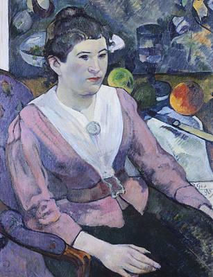 Portrait Of Woman With Still Life  Art Print