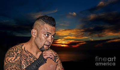 Digital Art - Portrait Of Wrestling Champion Kimo by Jim Fitzpatrick
