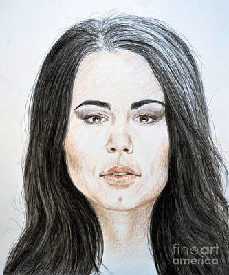 Superstar Mixed Media - Portrait Of Wwe Superstar Paige by Jim Fitzpatrick