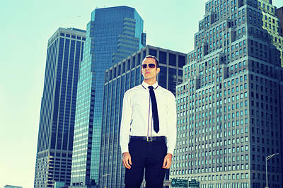 Photograph - Portrait Of Young American Businessman In New York by Alexander Image