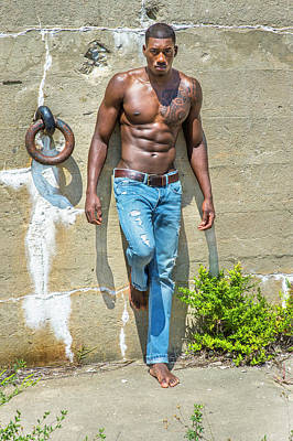 Photograph - Young Black Fitness Man  by Alexander Image