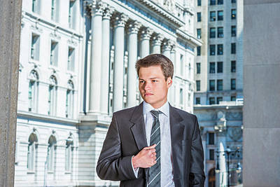 Photograph - Portrait Of Young Businessman 15042511 by Alexander Image