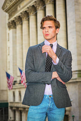 Photograph - Portrait Of Young Businessman In New York 15041213 by Alexander Image
