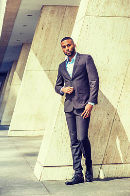 Photograph - Portrait Of Young Handsome African American Businessman 1705213 by Alexander Image