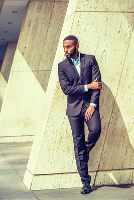 Photograph - Portrait Of Young Handsome African American Businessman 1705216 by Alexander Image