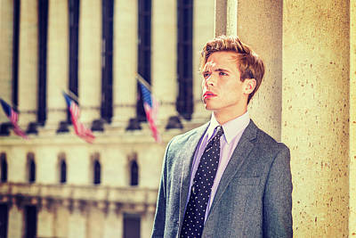 Photograph - Portrait Of Young Handsome American Businessman 1504122 by Alexander Image
