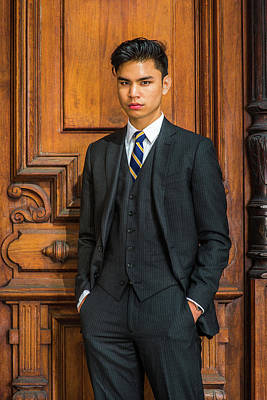 Photograph - Portrait Of Young Indonesian American Businessman In New York by Alexander Image