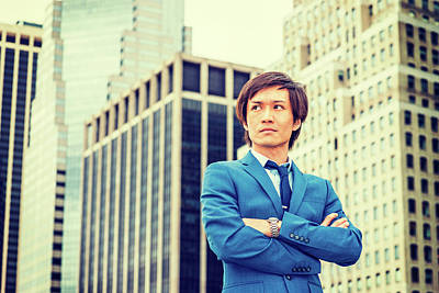Photograph - Portrait Of Young Japanese Man In New York 15041413 by Alexander Image