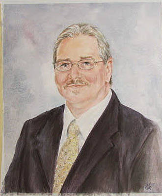 Painting - Portrait Of Zeke Alford by Gloria Turner
