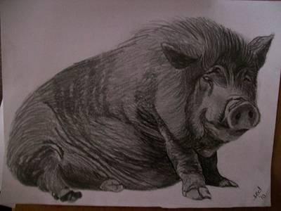 Pigatopia Drawing - Portrait Pencil Sketch U Provide Picture By Pigatopia by Shannon Ivins