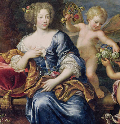 Angel Art Painting - Portrait Presumed To Be Francoise-athenais De Rochechouart De Mortemart by Pierre Mignard